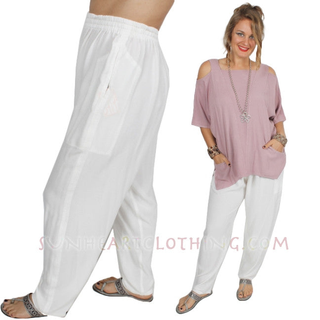 Trouser Pant Moroccan Cotton Plus Sml-2X Custom Dye $90