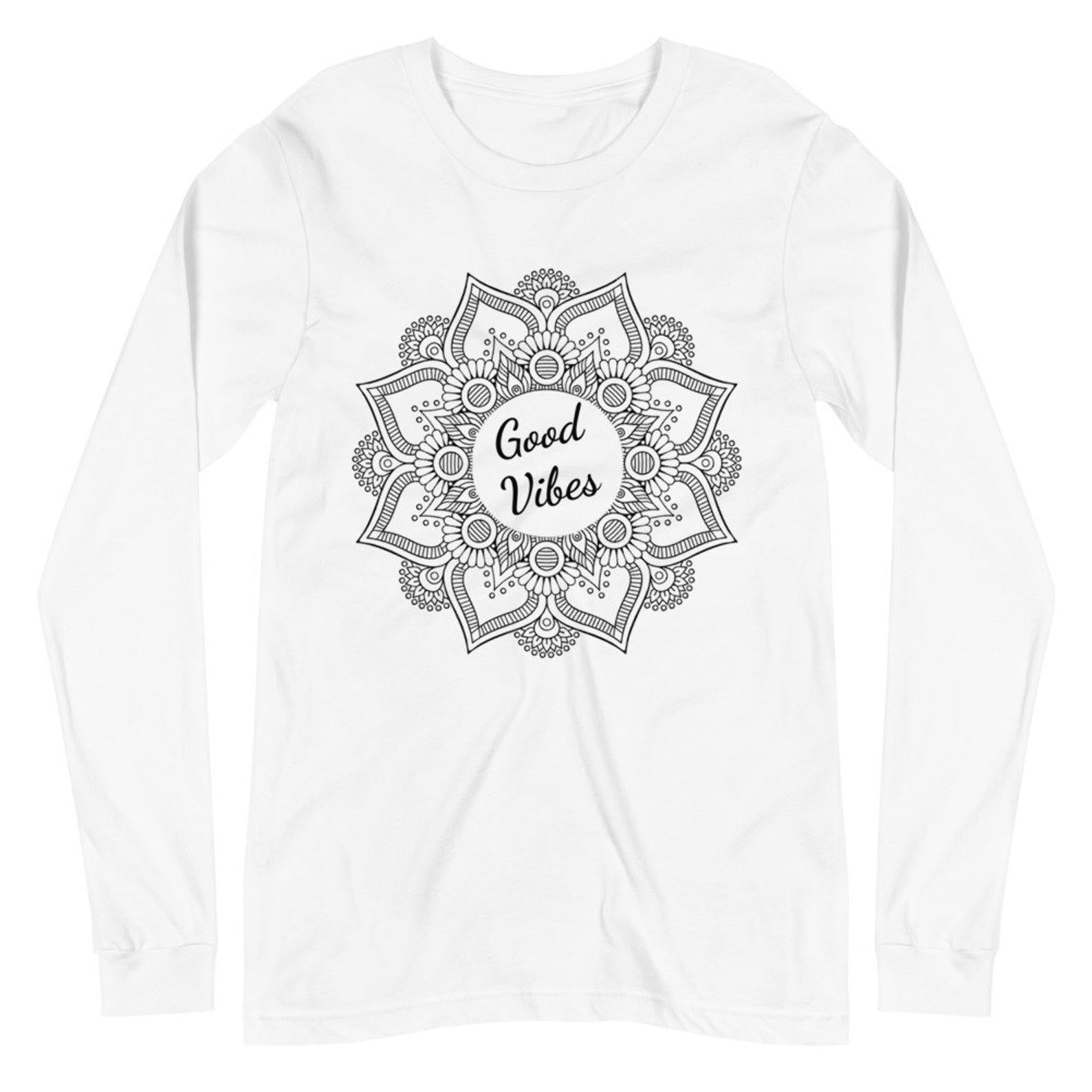 Sunheart Good Vibes Cotton Unisex Women's Men's  Folk Art Tee Shirt Small to 2x