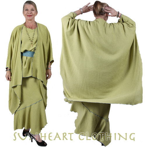 Sunheart Chenille Flapper Batwing Coat Evening Glam Sml-8x