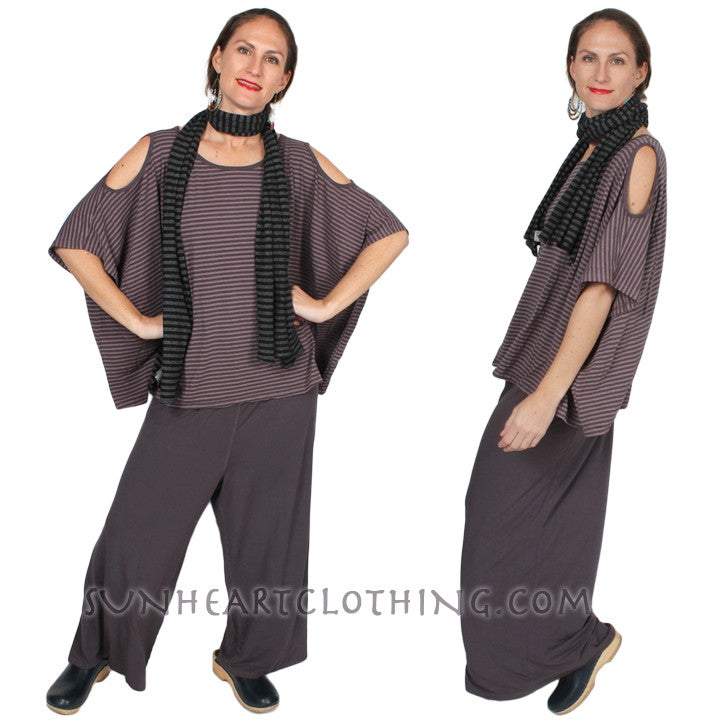 HeartString Wide Leg Palazzo Pants Boho Resort Wear 2x-5x
