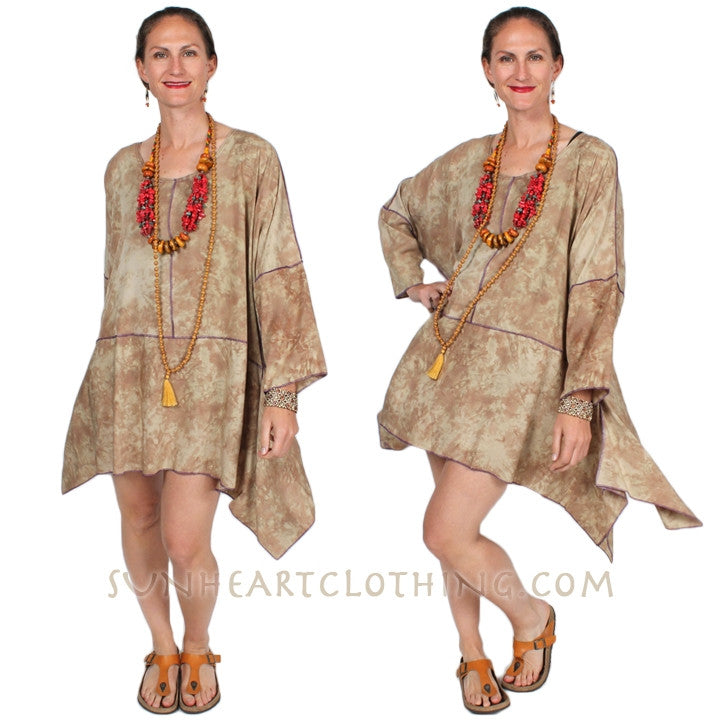 Sunheart Boho Tunic Top Hippie Chic Plus Resort Wear Plus Sml-4x