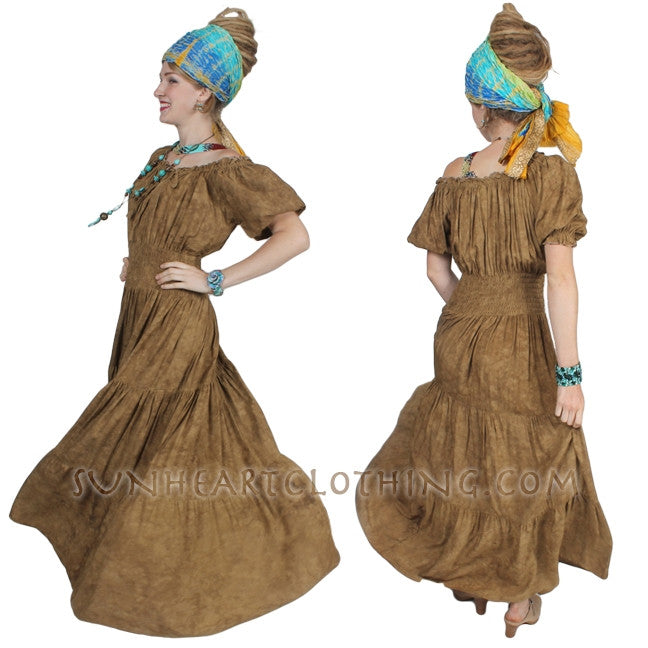 50% OFF Sunheart Boho Batik Peasant Dress Mexican Renaissance Folk Sml-4X
