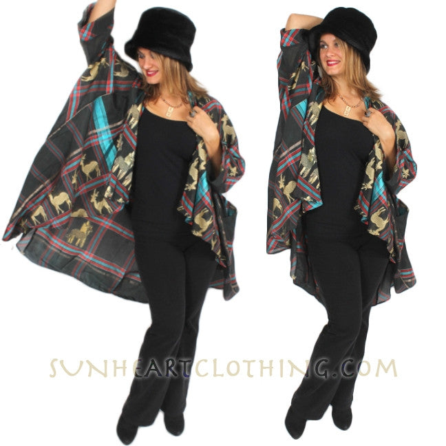 Sunheart Vintage Silk Shaman Deer Plus Embroidery Coat
