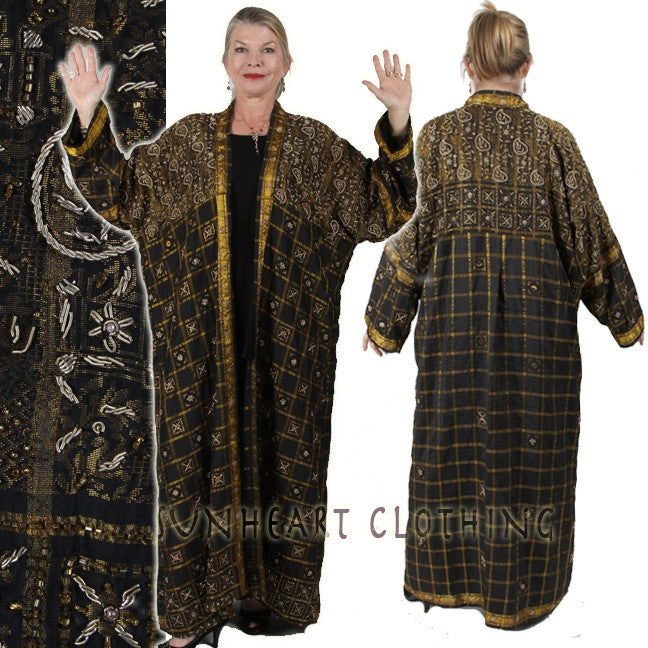 Sunheart Embellished Gold Metal Thread Versaille Coat Stunning