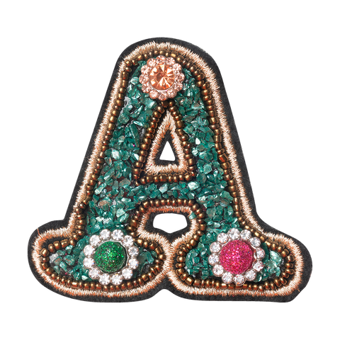 COLORFUL FLOWER LETTER A
