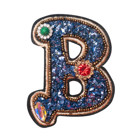 COLORFUL FLOWER LETTER B