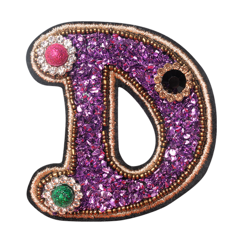 COLORFUL FLOWER LETTER D