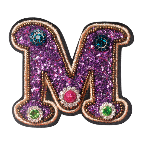 COLORFUL FLOWER LETTER M