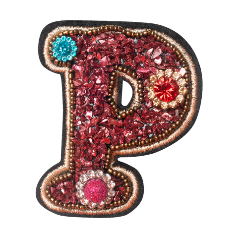COLORFUL FLOWER LETTER P