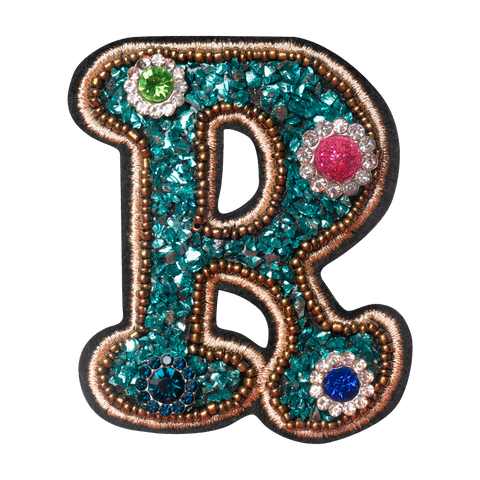COLORFUL FLOWER LETTER R
