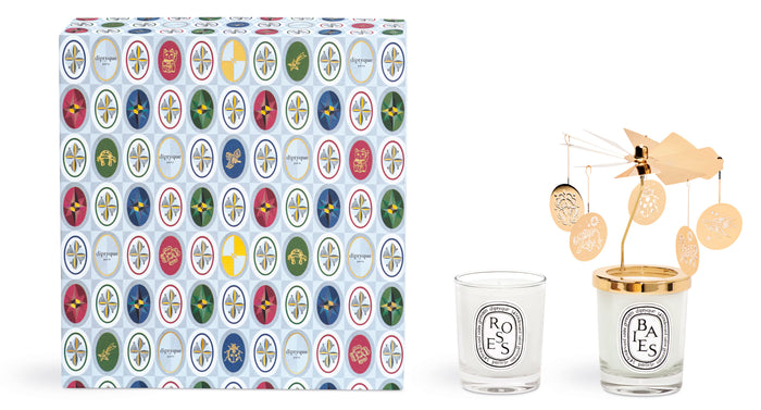 Diptyque Set with Two Small Candles and Carousel