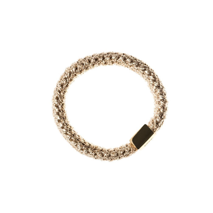 Dark Fat Hair Tie Sparkled Sand