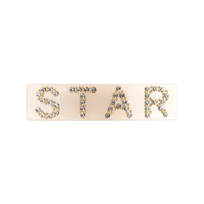 Dark Large Hair Clip Star Sand