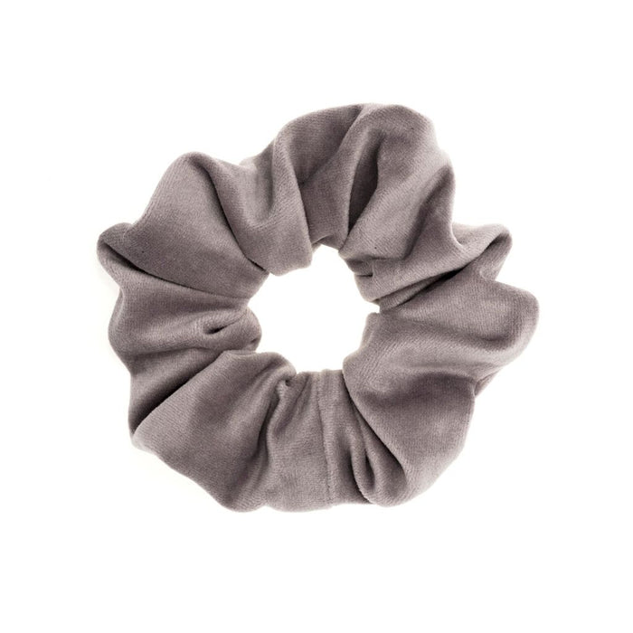 Dark Velvet Scrunchie Elephant Grey