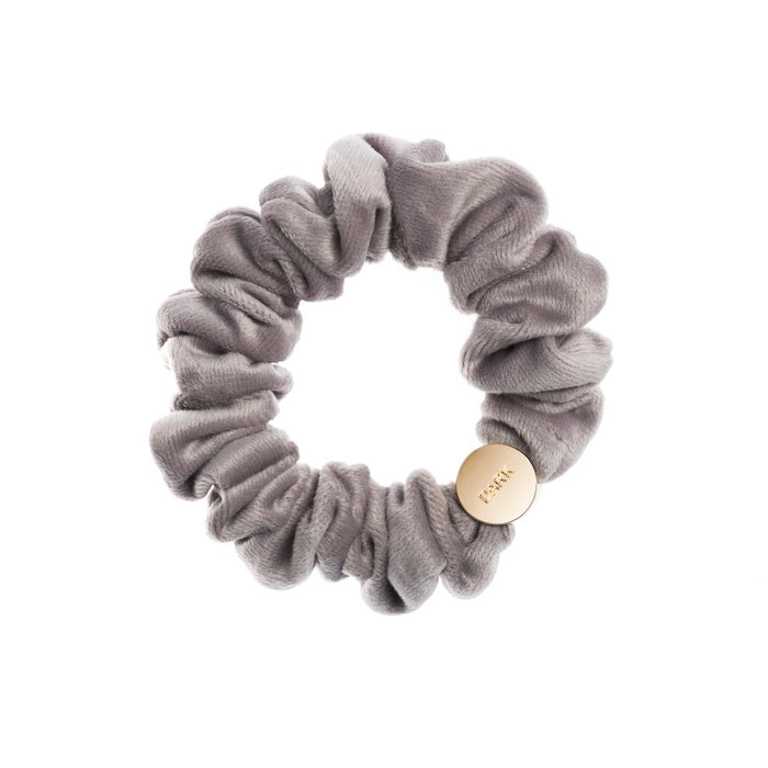 Dark Velvet Mini Scrunchie Elephant Grey