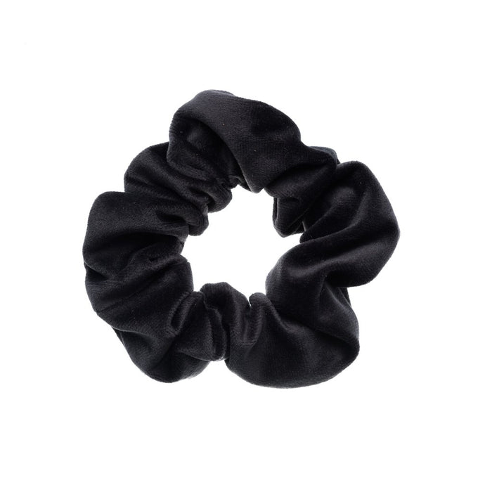 Dark Velvet Scrunchie Charcoal