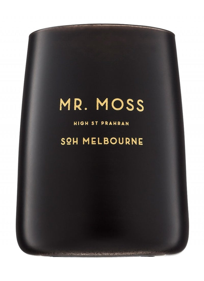 "SOH Black Matte Candle ""Mr. Moss"""