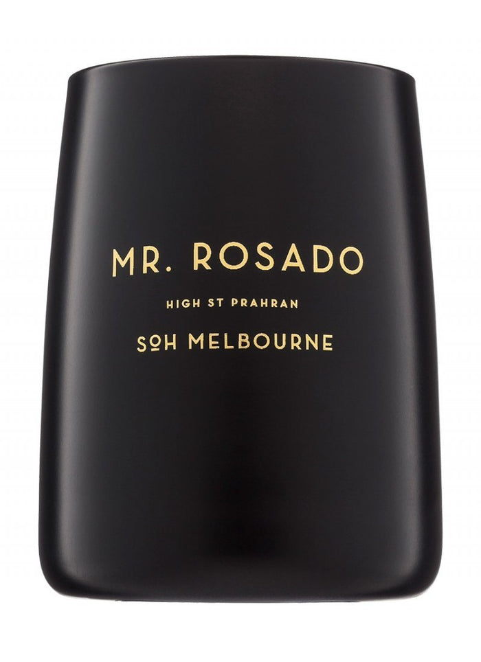 "SOH Black Matte Candle ""Mr. Rosado"""