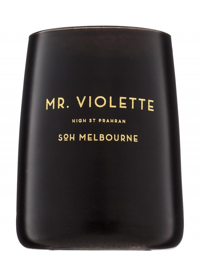 "SOH Black Matte Candle ""Mr. Violette"""