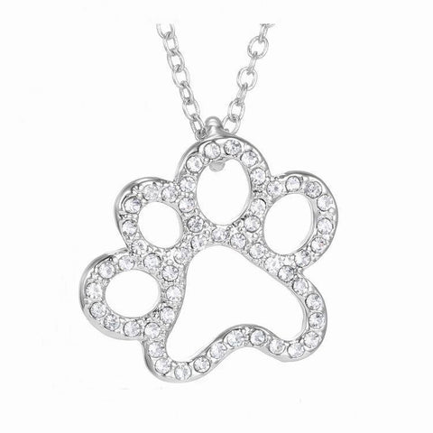 Hollow Cat Paw Necklack