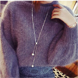 Long Necklaces with Pearl Pendant