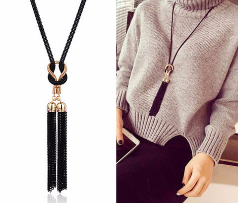 Gold and Black Color Necklace