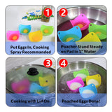 Egg Poacher - Floating Silicone Pods - Pack of 4