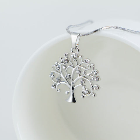 Elegant Tree Pendant Necklace