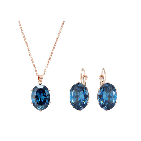 Crystal Pendant with Matching Earrings