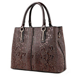 Snake Patterned Designer Handbag