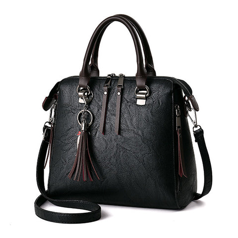 Handbag with Tassel Pendant
