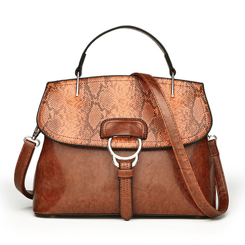 Snake Pattern Designer Bag