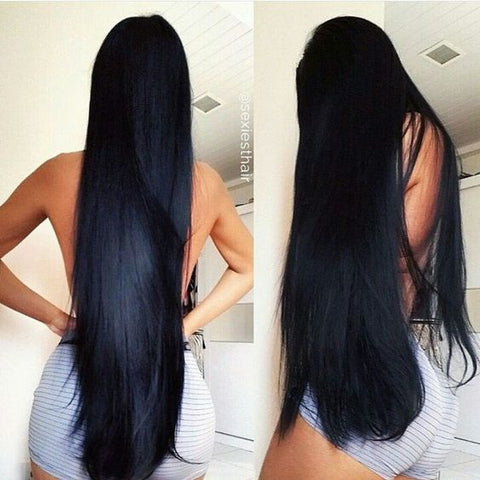 Girl with very long black hair