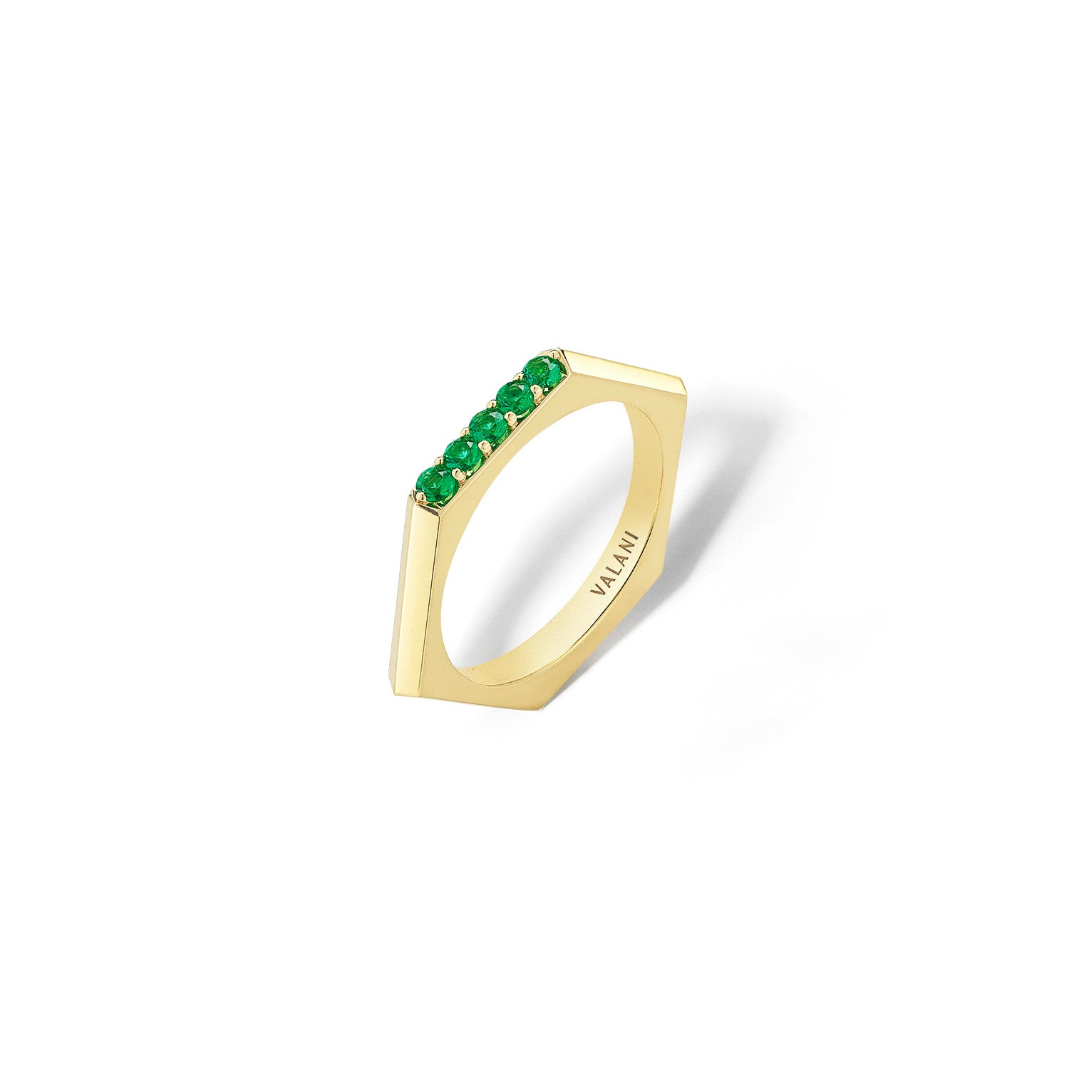 ring emerald solo engagement bands london wedding rings jaubalet jewellery laureen