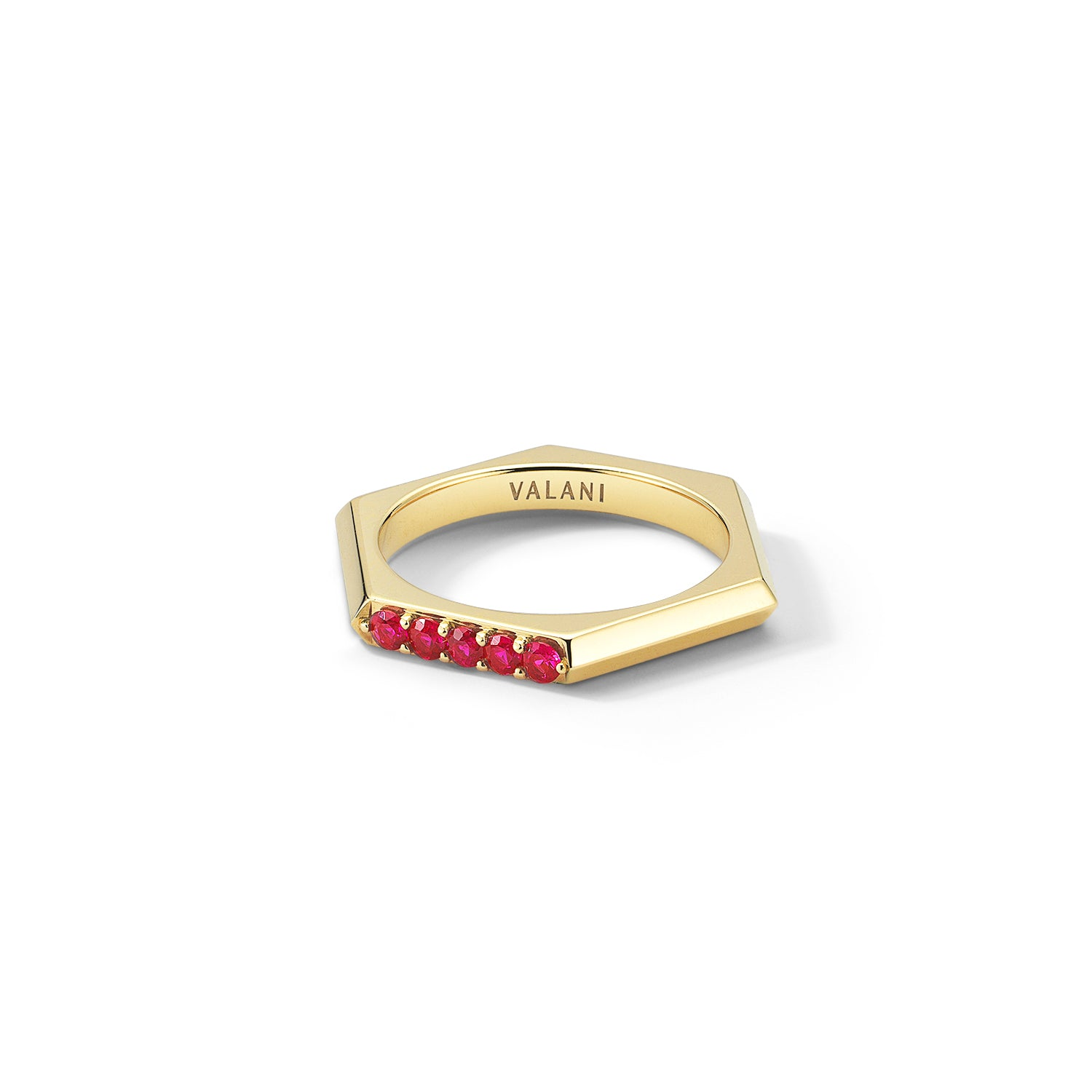 with tw white diamonds yellow ring gold ruby jewellery in