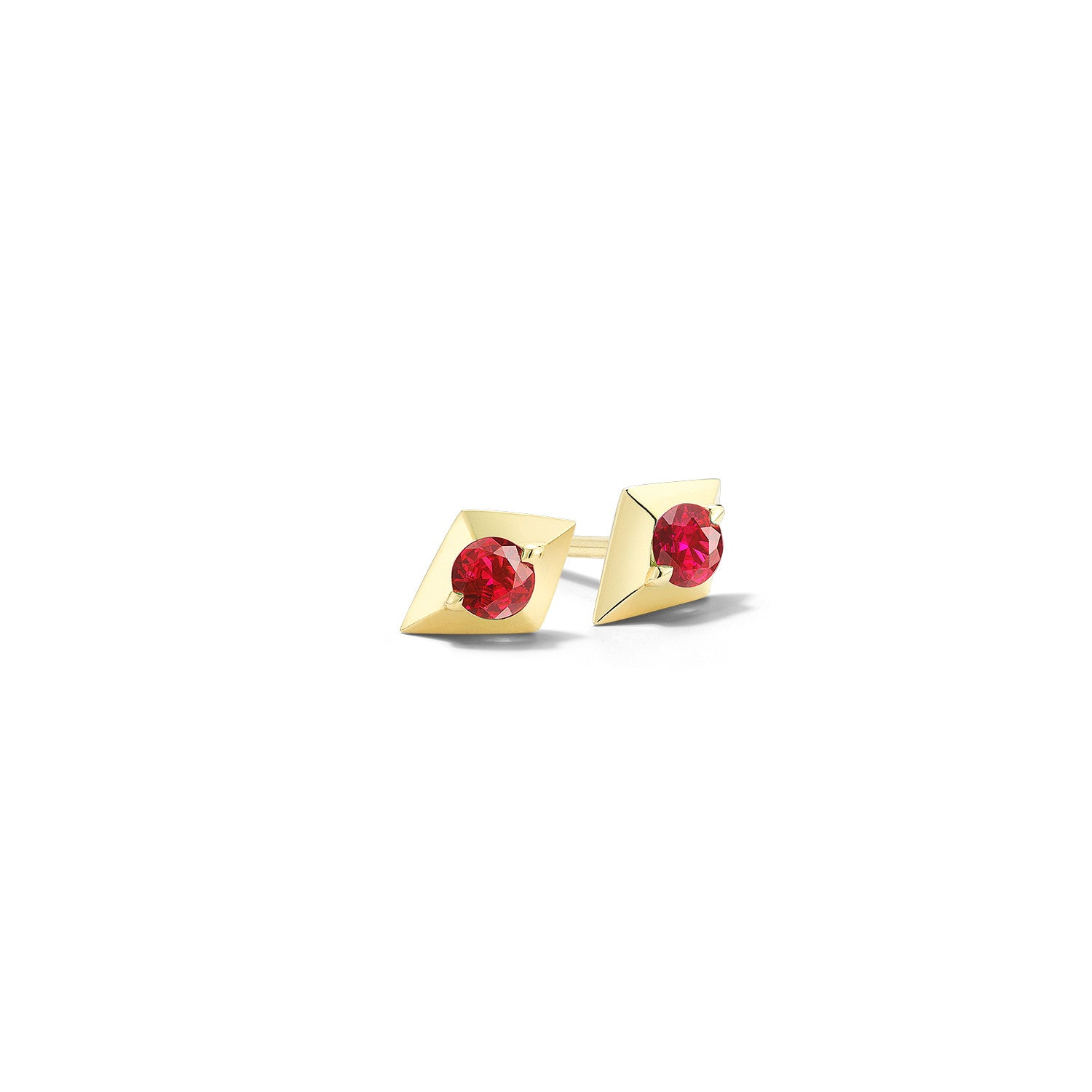 in tw diamonds gold with rose jewellery earrings ruby