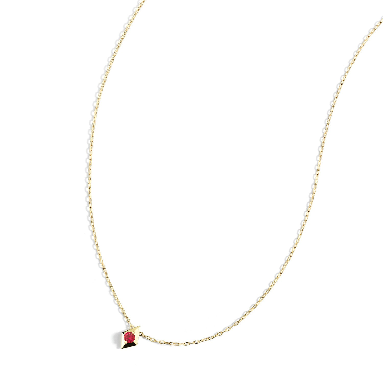 gold frida necklace pendant min ruby yellow