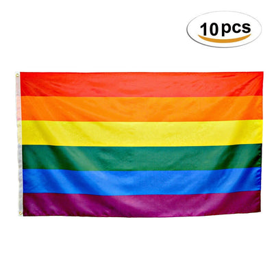10 Pieces Gay Pride Flag (3x5)