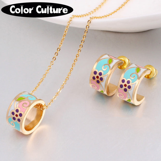Women's Flower Jewelry Set
