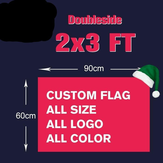 2x3FT Doubleside Custom Printed Flag 60x90cm 100D Polyester Customized  Sports Design Customize Advertising Banners