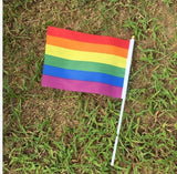 50 Pieces Rainbow Hand Held Flags