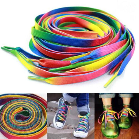 Rainbow Gradient Flat Shoelaces