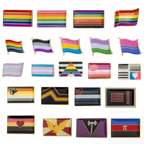 LGBT Pride Flags Enamel Pin Set (10pcs)