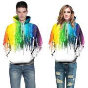 Rainbow Splash Paint Hoodies