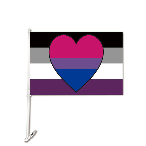 Asexual Biromantic Car Flag