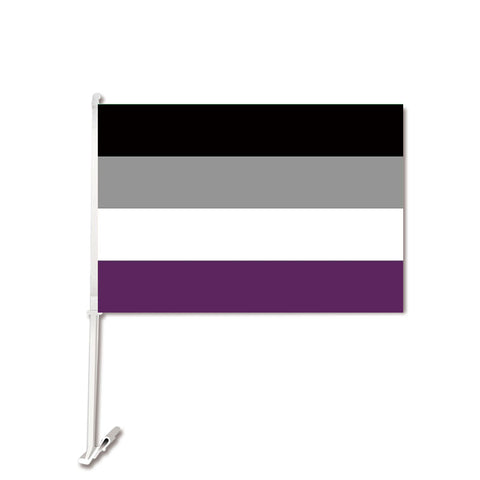 Asexual Car Flag