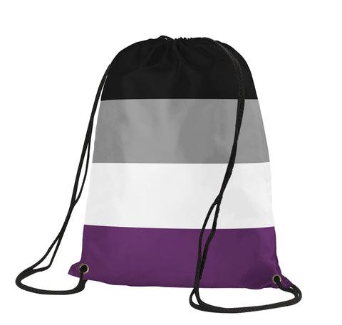 Asexuality Drawstring Backpack