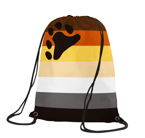 Bear Brotherhood Drawstring Backpack