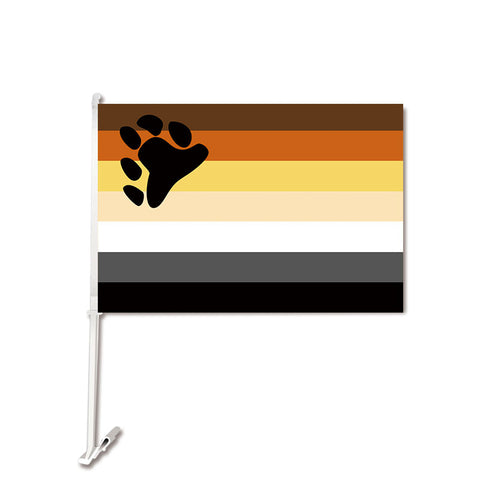 Bear Pride Car Flag