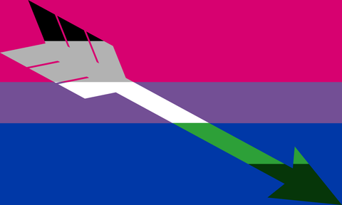 Bisexual GrayAromantic Pride Flag